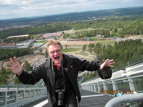 Distriktsansvarige Benny Eriksson är skräckslagen av utsikten, Foto Neil Jonsson.