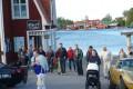 Vid Restaurang Albertina norr om Söderhamn.