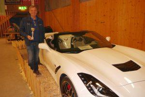 Mats Persson från Bollnäs med sin eleganta C7 -16 som han fick tredje pris i sportvagnsklassen med.