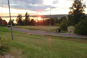 27/7, Solnedgång över Siljan kl. 21.15.
