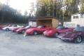 Våra Corvetter parkerade tillsammans.