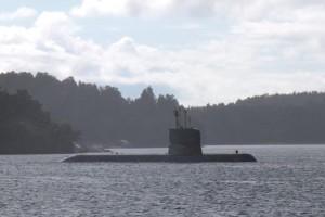 Svensk ubåt siktad.