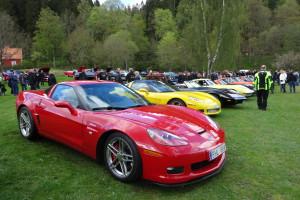 Corvetter i långa rader