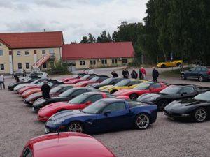Corvetter parkerade i Kungsör