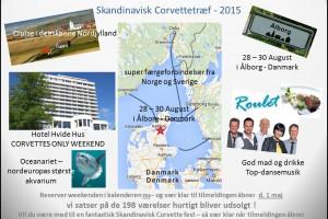 Skandinavisk Corvette träff 2015