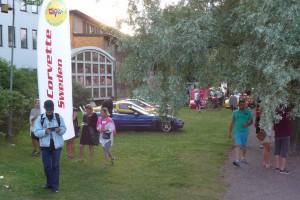 Många besökte oss och vi fick göra reklam för Club Corvette.