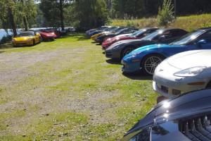 Dagens parkering var som vanligt färgglad.